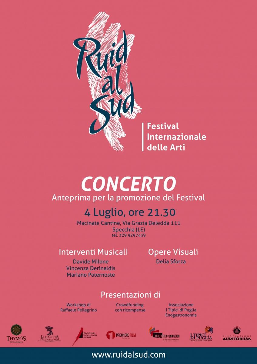 Il Festival delle Arti inaugura in Puglia il 30 di luglio