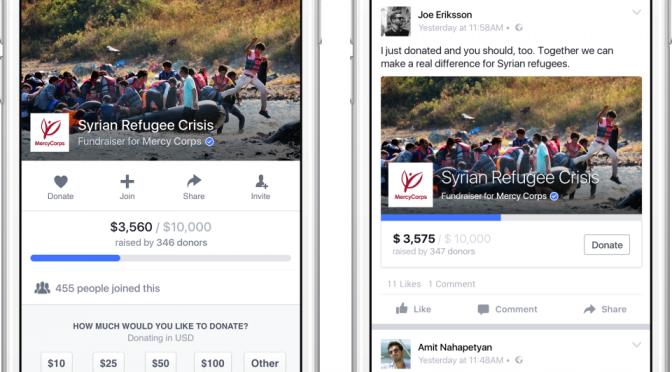"""Lezione di Crowdfunding  n° 21 – Facebook e la nuova funzone """"dona""""."""
