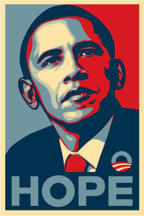 il furto dell'immagine di Obama effettuato da Hope